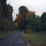 West Virginia in the Fall.  On the  road by Aunt Helen's House.