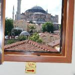 the Aya Sophia from the hotelroom