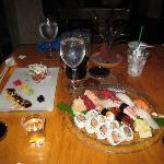 和食(寿司)もなかなか美味しい