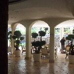 The elegant lobby.