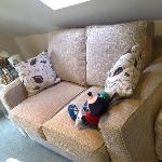 Sofa bed and tv