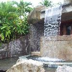 One of the two waterfalls for a free hydromassage!