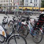 A bike park.