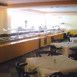 Il buffet del ristorante