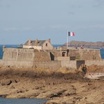 Scene of St. Malo - One of the Forts Guarding the Approaches