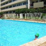 la piscine très agréable lorsqu'il fait 35°C !