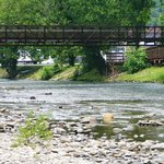Oconaluftee Islands Park River & Bridge