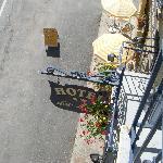 ingresso visto dal balconcino