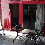 Private terrace area outside Room #6