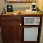 Microwave/Fridge Area