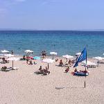 Blue flag hotel beach