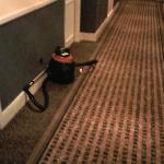 The hotel owns its' own cleaning equipment