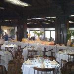 la salle à manger, buffets le soir et petit dej superbe