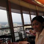 having breakfast at meritus mandarin's observation lounge
