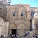 This is the outside of the Church of Holy Sepulcher The Chapel of the Franks