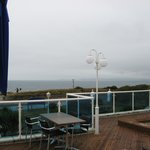View from Balcony Room with restaurant deck in front