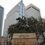 Statue of Andrew Jackson.
