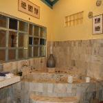 Antique doorless bathroom