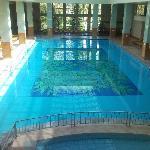 Huge indoor pool.