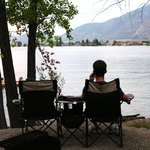 view from the campsite onto Lake Osoyoos