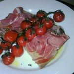 Serrano ham and tomato starter
