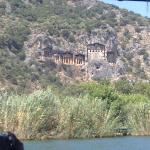 rock tombs at caunos near dalyan