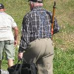Rifle shooting contestant, above Les Paccots, August, 2009