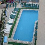 A view of the pool from our room