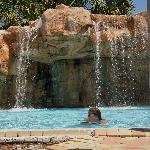 the pool waterfall was cool