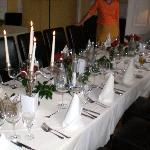 Tafel zum Abendessen