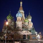 St Basil's church in front of the Kremlin