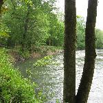River down below cabin
