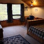 Really comfortable cabins with great views.