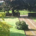 view of the garden from the window (the farmyard was also visible!)