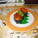 A caviar dish at the Sushi Restaurant