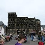 The Porta Nigra, the largest surviving Roman city gate worldwide.