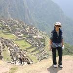 En la legendaria Machu Picchu en Peru