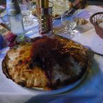 Nuestra 1º pizza Italiana...Jamón, muzzarela y huevo!! Era un Volcán!!!