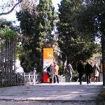 L'ingresso alla seconda parte dei giardini