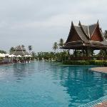 I love the large pool with the massage area in the middle  The pool isn't an illusion...it is