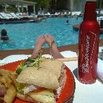 Lunch in the pool area :)