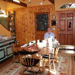 breakfast in the kitchen/dining area