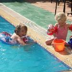 Kids at Sarigul pool