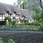 Anne Hathaway's Cottage -- where Shakespeare's wife grew up.  Stratford-upon-Avon.