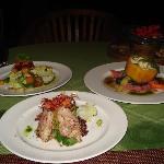 アユンリバーレストランでのオーガニック料理