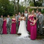 Wedding party - area beside the ballroom