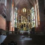 Salzburg, Austria; inside church of wedding scene