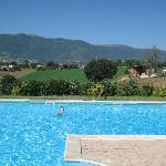 Het zwembad met een panoramisch uitzicht
