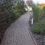 Ansteigender Zuweg vom Parkplatz aus (insgesamt ca. 50 Schritte)