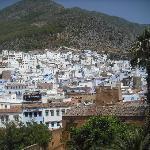 Vista de Chaouen desde la Kashba